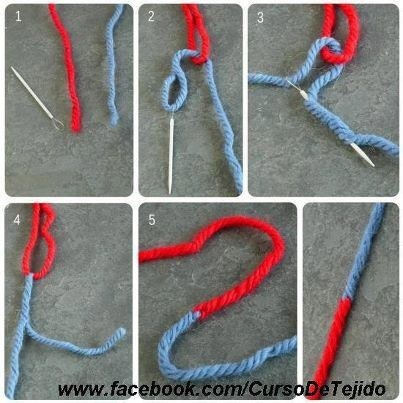 Crochet Stitches Joining Yarn : ... on how to join to colors of yarn:: :: knit and crochet patterns