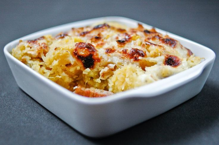 Spaghetti Squash Gratin with Walnut and Bacon Recipe on Chocolate ...