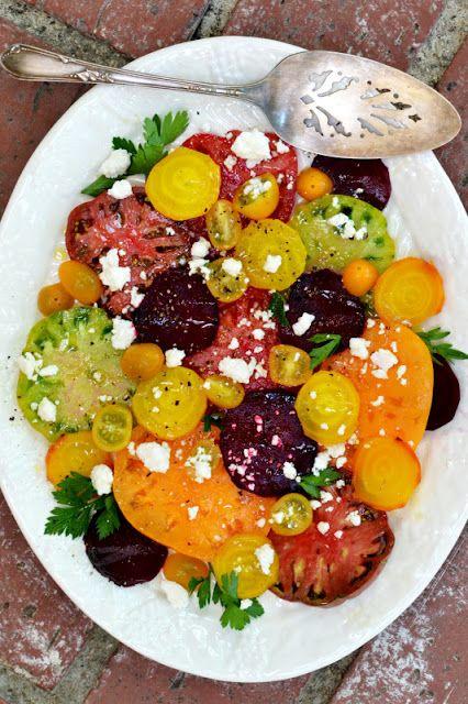 Heirloom tomato and beet salad | Great Food Ideas | Pinterest
