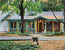 Exterior cabin color schemes joy studio design gallery for Log cabin exterior stain colors