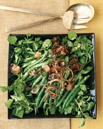 AND SALADS - See the Green Bean, Watercress, and Crispy Shallot Salad ...