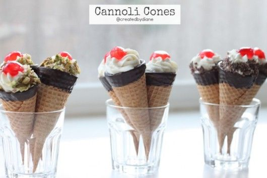 Cannoli Cones from @createdbydiane