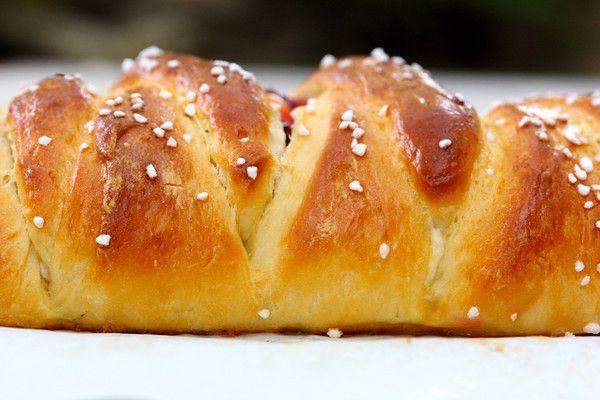 Braided Lemon Bread with Blackberries