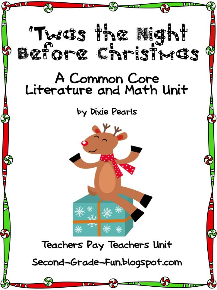 Christmas unit based on the poem 'Twas the Night Before Christmas ...