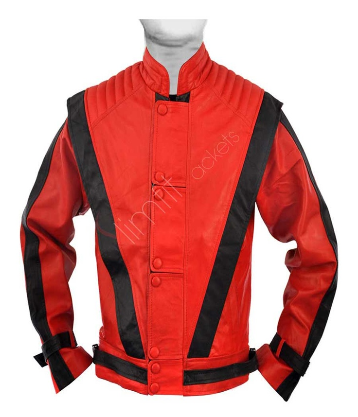 Thriller: Michael Jackson Red and Black Leather Jacket. # ...