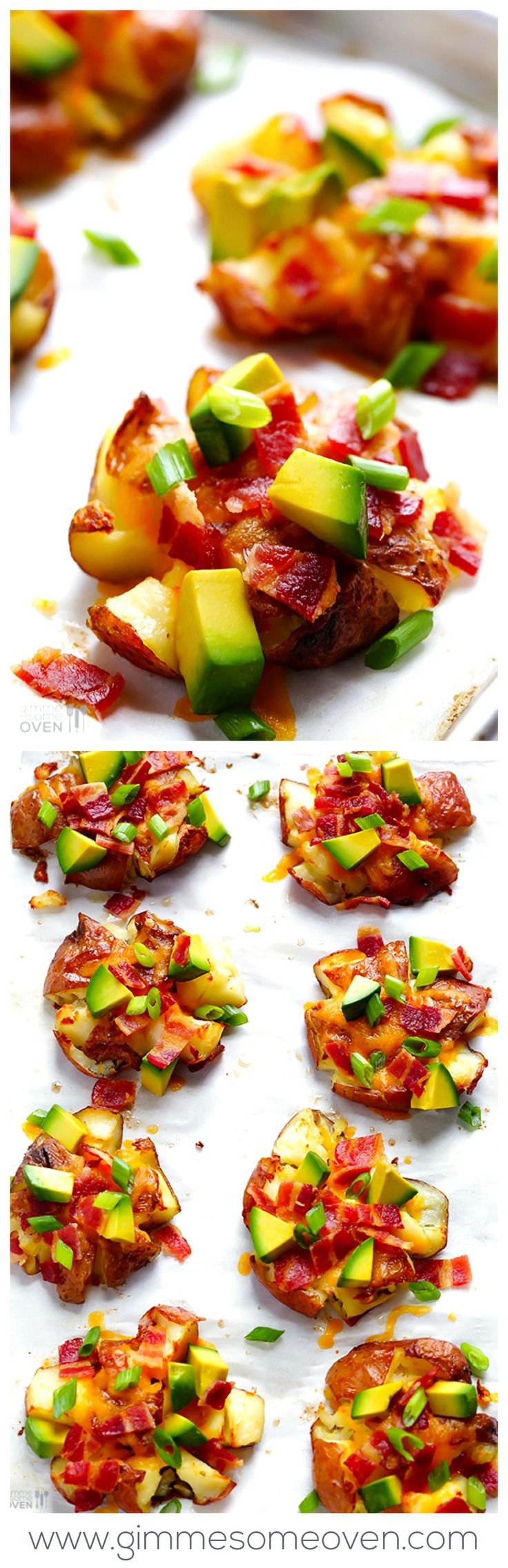 Smashed Red Potatoes -- easy to customize, and perfect for game day ...