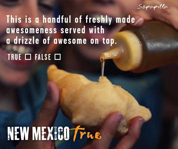 #NewMexicoTRUE - This is a handful of freshly made awesomeness served with a drizzle of awesome on top!
