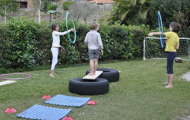 how to make an obstacle course outside