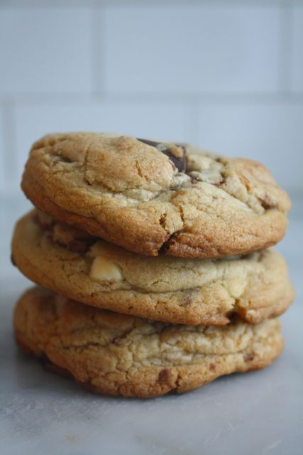 Triple Chocolate Chunk Cookies - Blue-Eyed Bakers - Blue Eyed Bakers