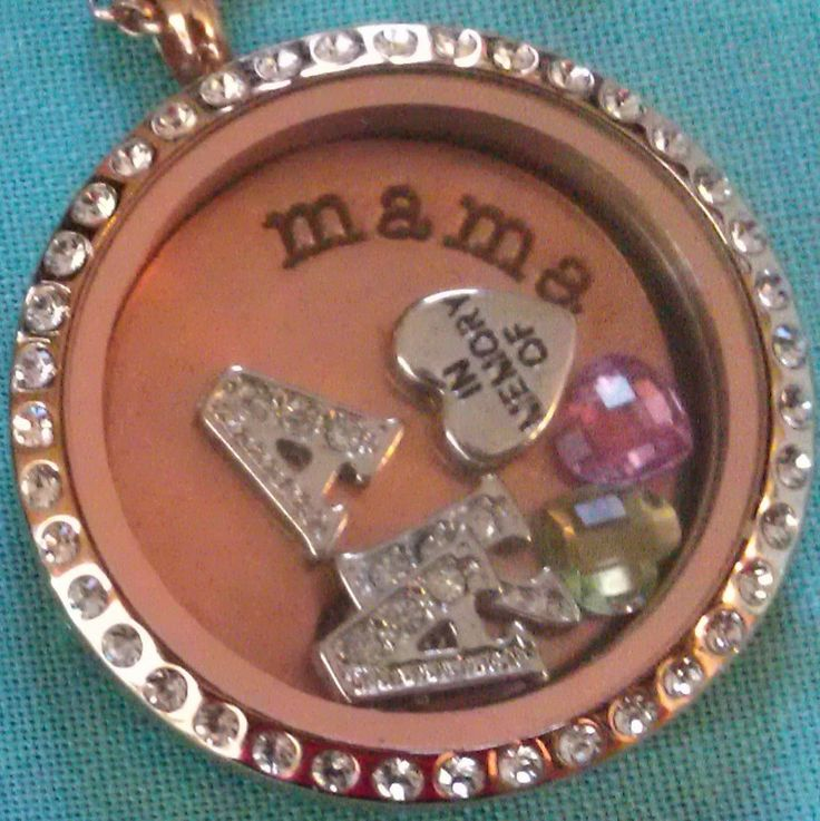... she can hold the initials and birthstones of all of her children