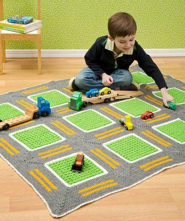 Free Crochet Patterns For Toy Cars : Car crochet play mat Crochet Pinterest