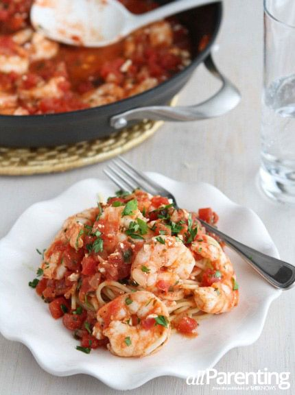 Roasted Shrimp with tomatoes and feta cheese