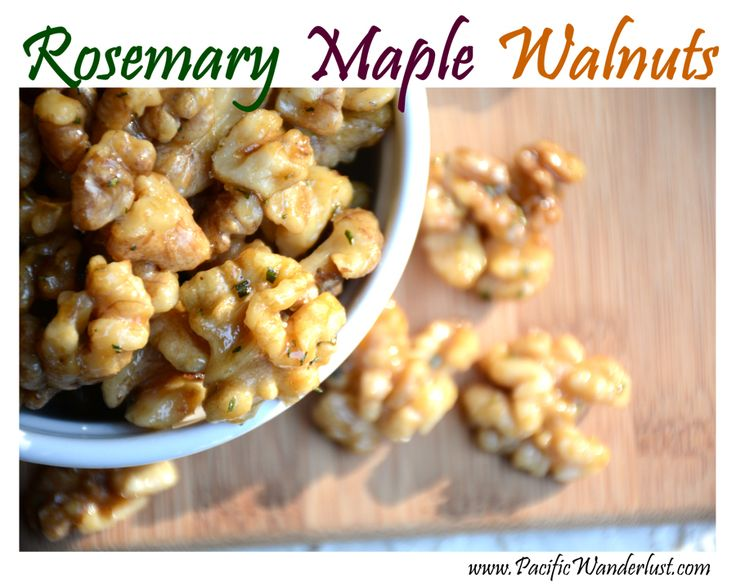 Rosemary Maple Walnuts (paleo/vegan) | Snack Attack | Pinterest