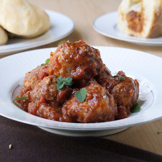 Crock Pot Herbed Turkey Meatballs | Meatballs | Pinterest