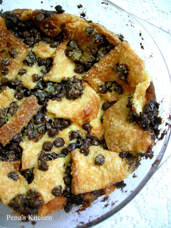 Chocolate Chip Bread Pudding