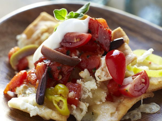 Greek style nachos - Cat Cora | Cat Cora recipes | Pinterest