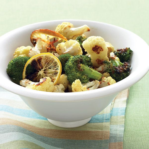 Roasted Broccoli and Cauliflower with Lemon and Garlic Recipe | Food ...