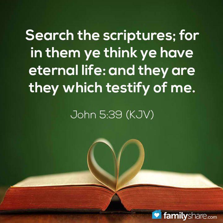 John 5 39 Kjv Verses Amp Quotes Pinterest