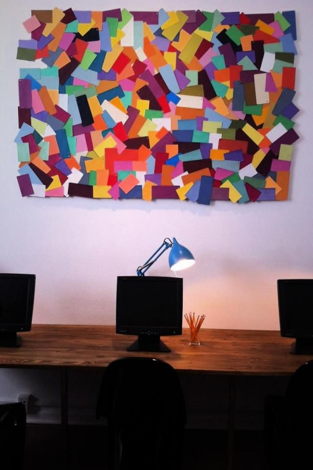 Paint Chip Wall Art Colorful Inspirations Pinterest