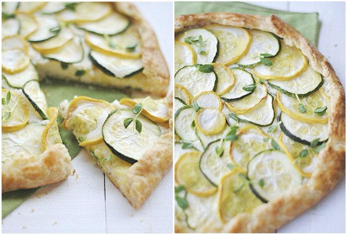 Zucchini, Squash and Ricotta Galette~ | good E A T S. | Pinterest