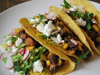 Black Bean, Corn and Goat Cheese Tacos | 365 days of new recipes! | P ...