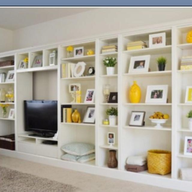 Built In Shelves Decorating Ideas Pinterest