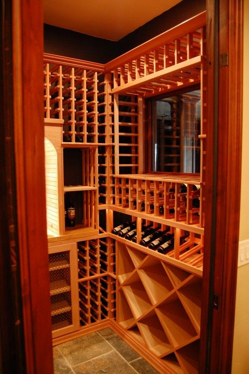 This would be very easy to do in a small basement closet for Small basement wine cellar