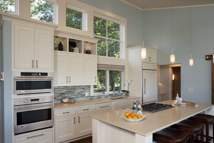 Nice galley kitchen with small island my dream beach for Small galley kitchen with island