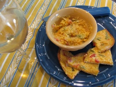 Pimento Cheese. Make and spread on bread or crackers to toast. I'd ...