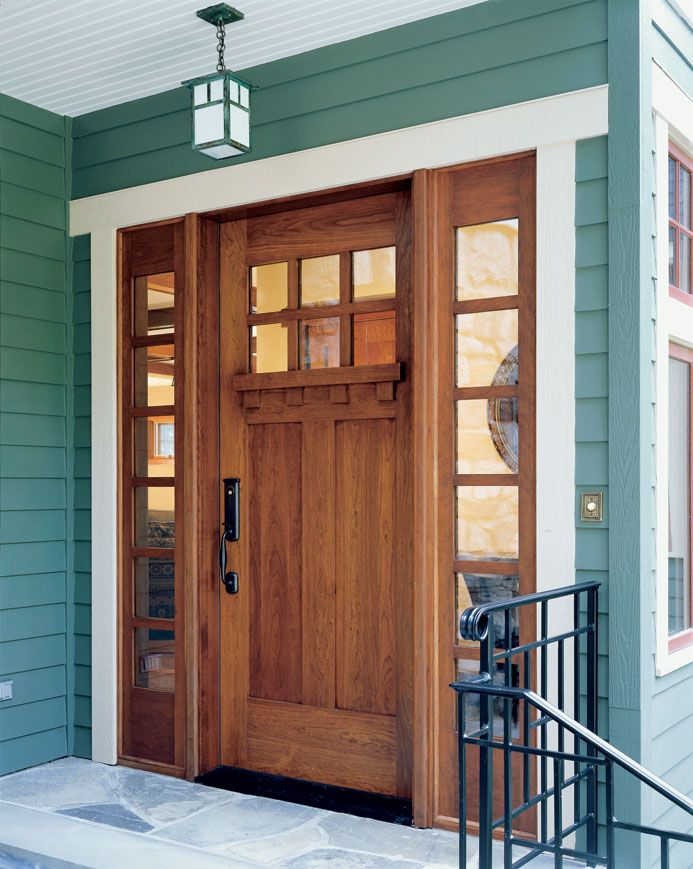 Door w sidelites craftsman style home decor and more for Side doors for houses