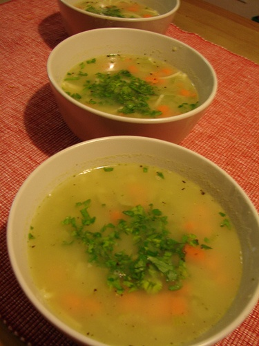RAW vegan chicken noodle soup Also see recipe: Un-Chicken Noodle Soup ...