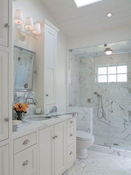Marble Small Master Bath Layout Salle De Bain Pinterest