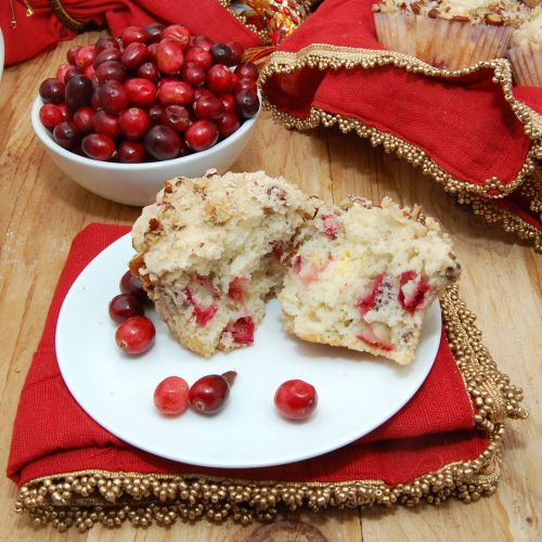 Cranberry Orange Pecan Muffins with streusel*** - baking illustrated