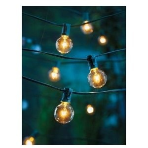 Clear Globe String Lights Set of 25 G40 Bulbs Indoor / Outdoor :)