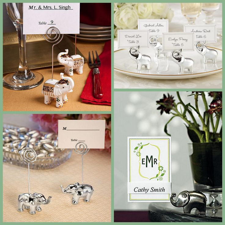 Elephant Place Card Holder from HotRef.com