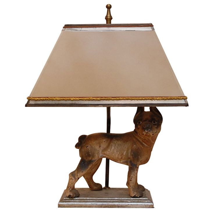 Iron table lamps - Iron Dog Lamp With Shade Dog Decor Lamps Pinterest