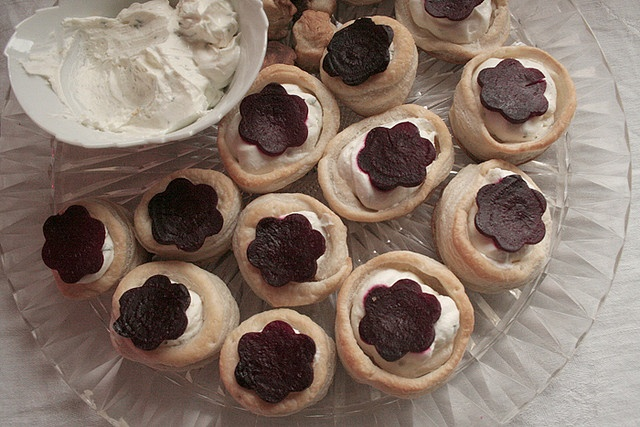 Puff Pastry with Herbed Goat Cheese and Roasted Beet via bread-and ...