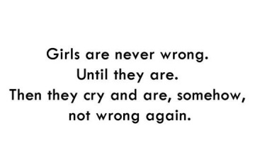 Girls Are Never Wrong