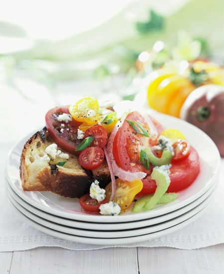 8 Top Chef Finalists Share Their Dream Wedding Menus: Heirloom tomato salad with feta