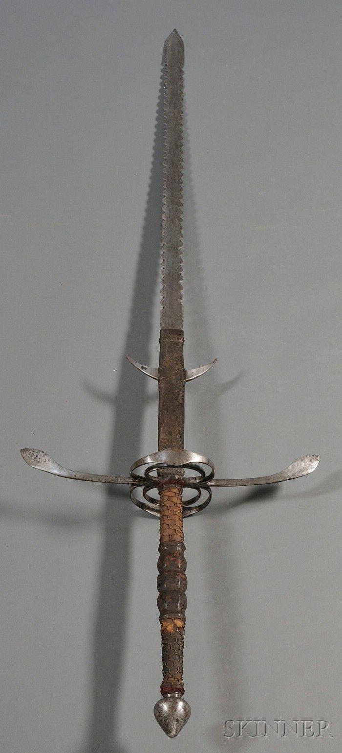 Zweihander Sword Two handed flamberge s...