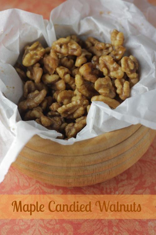 Maple Candied Walnuts-Season of Sweets | Sweet stuff | Pinterest