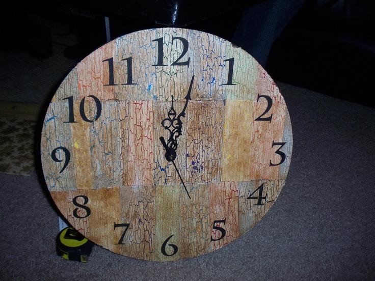 my DIY clock!! :) | Crafts | Pinterest