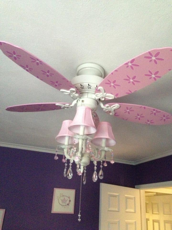 Chandelier Ceiling Fan Combination Karina S Purple