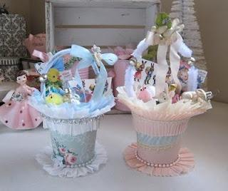 Yogurt Container Spring Baskets