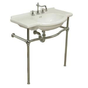 Pedestal Sink With Counter Space : St. Thomas Creations Nouveau Console Lavatory - White With Chrome from ...