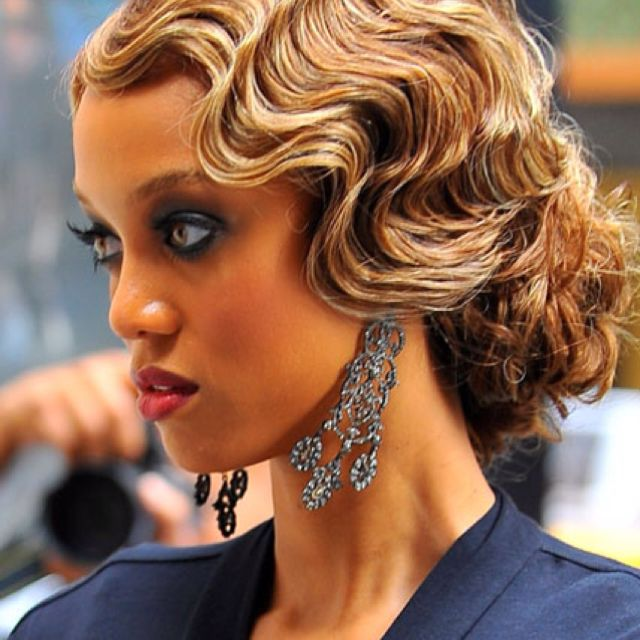 Finger waves and pin curls!! | A Gatsby Celebration | Pinterest