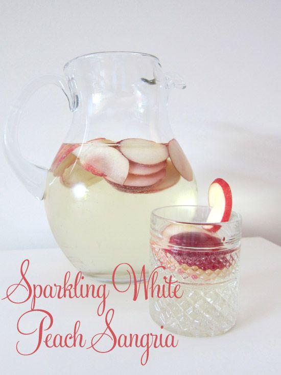 Cocktail Friday – Sparkling White Peach Sangria