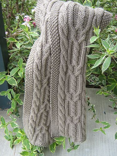 Double Cable Scarf | Flickr - Going to make this one for daughter's best friend for graduation--eggplant color.  So scrumpious!
