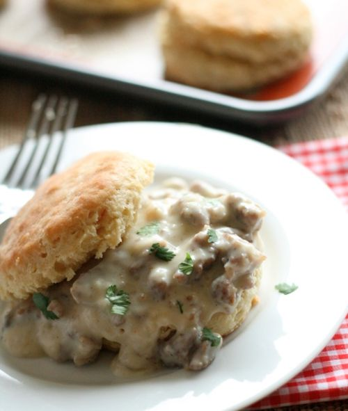 Southern Style Biscuits with Sausage Gravy