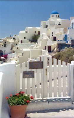 Greece! I always love the tranquility of pictures like these! The brilliant shades of blue and white are so incredible to look at! My best friend traveled there, and I would absolutely love to go there myself! I can't wait! :)